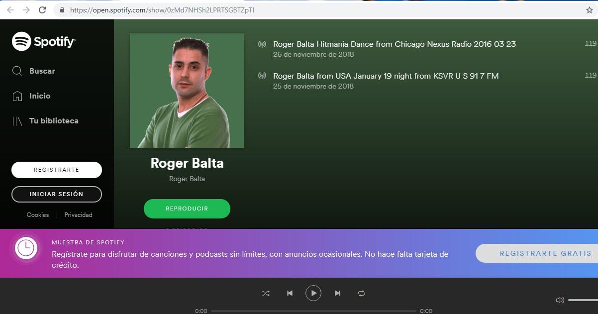 Roger Balta - Spotify - locutor Roger Balta