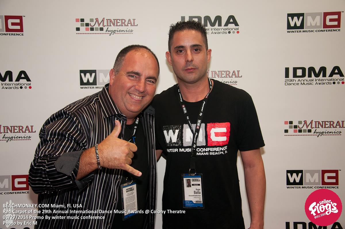 Roger Balta on the red carpet, international dance music awards in Miami.